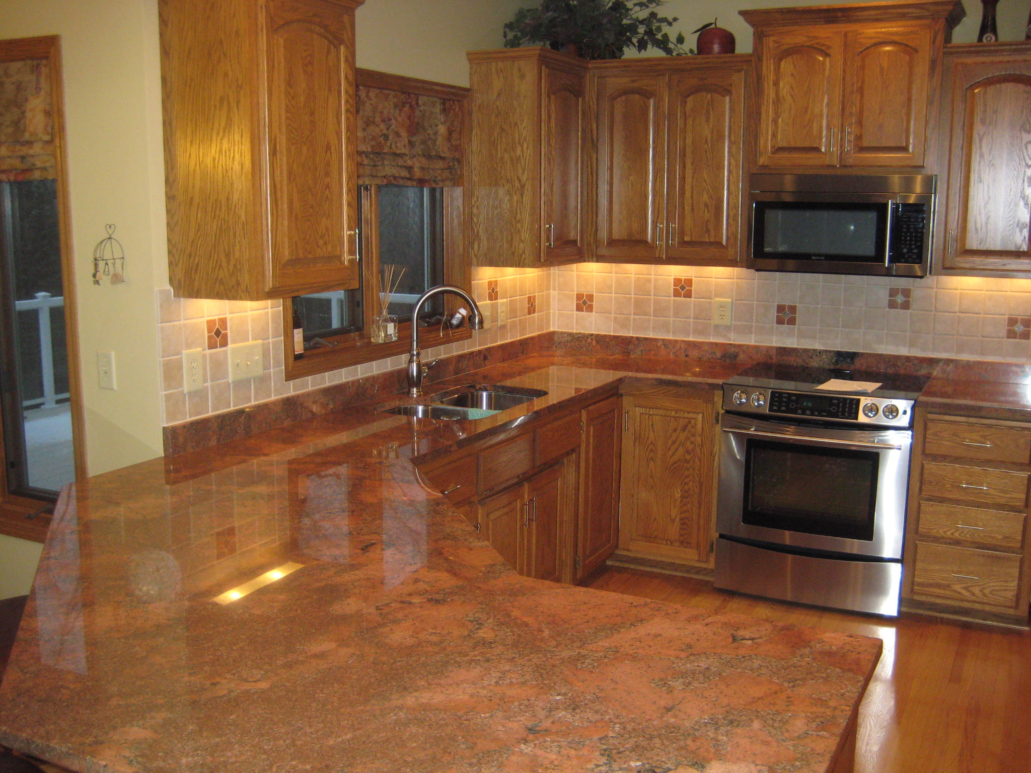 Image result for multicolor red granite countertops